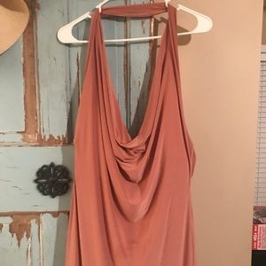 Rose colored cowl neck by Misguided size 12US
